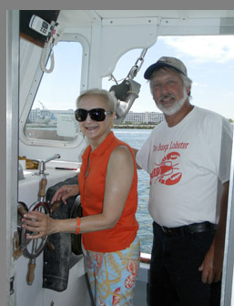 Debra Argen and Captain Wes Penney- photo by Luxury Experience