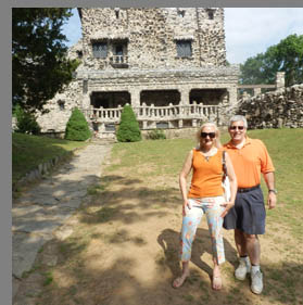 Debra Argen and Edward Nesta at Gillette Castle - photo by Luxury Experience