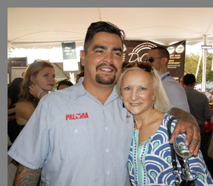 Chef Aaron Sanchez and Debra Argen - Greenwich Food + Wine Festiva - photo by Luxury Experience