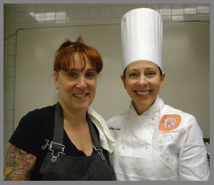 Chef Mindy Segal and ICC Pastry Chef Instructor Kathy Sadler - photo by Luxury Experience