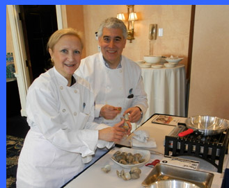 Shucking Clams - Debra C. Argen and Edward F. Nesta - photo by Luxury Experience