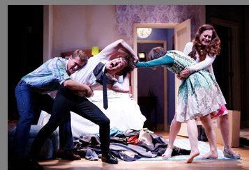 Westport County Playhouse - Bedroom Farce - Scott Drummond, Carson Elrod, Sarah Manton, Claire Karpen