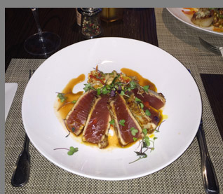 Seared Tuna - Fresh Salt Restaurant - Old Saybrook, CT - photo by Luxury Experience